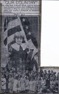 This newspaper clipping from shortly after the U.S. entered World War I emphasizes that First Bethlehem's members could be patriotic Americans, despite their German heritage