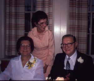Pastor Edwin A. Reinke, seated right, and his wife Edith, seated left